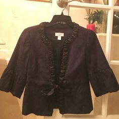 ‼️sale‼️Beautiful Anne Taylor Loft Jacket Beautiful Anne Taylor Loft Jacket. Navy Blue, perfect Condition, great with jeans or for work. Anne Taylor Loft Jackets & Coats