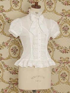 Perle Ribbon Puff Sleeve Blouse by Mary Magdalene Steampunk Fashion Women, Womens Fashion, Corsage, Estilo Lolita, Vintage Outfits, Vintage Fashion, Modelos Plus Size, Love Clothing, Cute Outfits