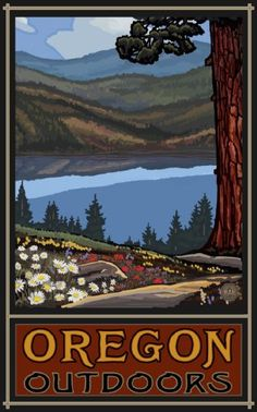 Northwest Art Mall Oregon Lake Trail by Paul a Lanquist Poster Print, 11-Inch by 17-Inch Northwest Art Mall http://www.amazon.com/dp/B008B58M7O/ref=cm_sw_r_pi_dp_HXh3tb0PXPM5X65Y