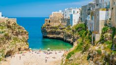 Scenic sight in Polignano a Mare, Bari Province, Apulia (Puglia), southern Italy. Castel Del Monte, Take The High Road, Cities In Italy, Southern Italy, Next Holiday, Italy Travel, Greece Travel, World Heritage Sites, Cool Places To Visit