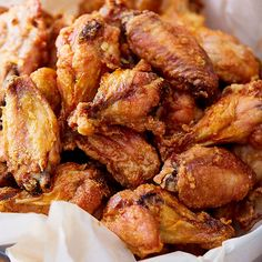 These crispy baked chicken wings are extra crispy on the outside and very juicy inside. They taste like deep-fried wings, only without a mess and added calories. Grilled Chicken Tenders, Crispy Baked Chicken Wings, Fried Chicken, Appetizer Sandwiches, Appetizers, Pepper Spice, Tailgate Food, Lemon Pepper, Chicken Wing Recipes