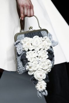 Francis Montesinos at Mercedes-Benz Fashion Week Madrid,AW 2016/2017 - (Details) Crochet Flowers