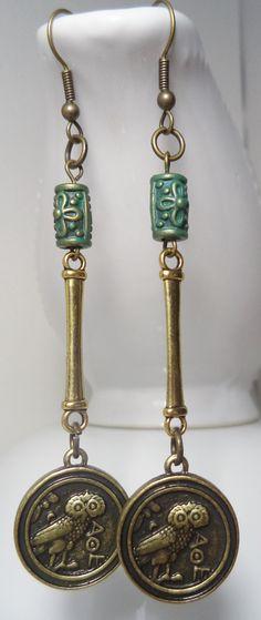 Ornate Coin Earrings by FunkyLollipop on Etsy