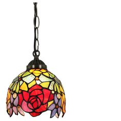 6inch European Pastoral Retro Style Pendant Light Red Rose Pattern... ($52) ❤ liked on Polyvore featuring home, lighting, ceiling lights, array0x10ed2798, red pendant light, red lamp, retro pendant light, retro ceiling lights and retro lamp