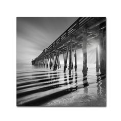 Moises Levy 'Pier and Shadows' Canvas Wall Art by Trademark Fine Art