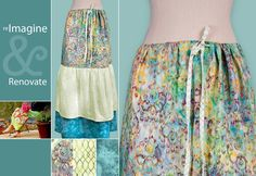 Re-imagine & Renovate: Three-Tiered Spring Skirt Becomes Hip Batik Maxi   Sew4Home   Within this post is the link to the instructions for the skirt.