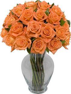 TWO DOZEN ORANGE ROSES WITHOUT VASE -  http://flowers.ussshopping.com/shop/orange-bouquets/two-dozen-orange-roses-without-vase/