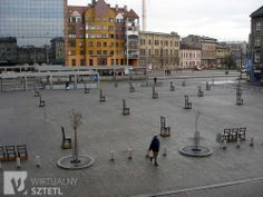 Ghetto Heroes square in krakow Poland