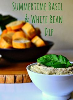 Housevegan.com: Summertime Basil and White Bean Dip - I got basil in ...