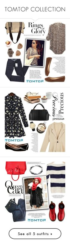"""""""TOMTOP COLLECTION"""" by helenevlacho ❤ liked on Polyvore featuring tomtop, Levi's, Christian Dior, Tiffany & Co., Anja, vintage, women's clothing, women, female and woman"""
