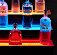 Illuminated LED Bar Shelves - These Platforms Will Make Your Liquor Collection Look Amazing (GALLERY)