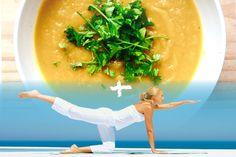 Yoga zou je elke week een uurtje moeten doen. Hier wat yoga inspiratie met een lekker licht maar vullend en verwarmend soepje om de yoga mee te combineren:)