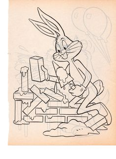 LOONEY TUNES HONEY BUNNY N YOSEMITE SAM | COLORING PAGES ...