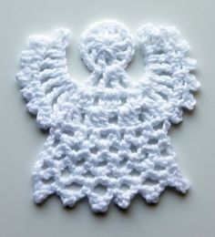 Ristiin rastiin: Virkattu enkeli joulukuuseen - Crochet angel
