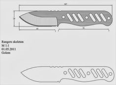 Knife Template, Knife Patterns, Diy Knife, Forged Knife, Knife Handles, Knife Making, Sword, Weapons, Knifes
