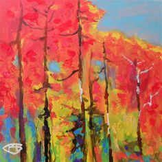 Autumn Reds by Kip Decker | acrylic painting | Ugallery Online Art Gallery