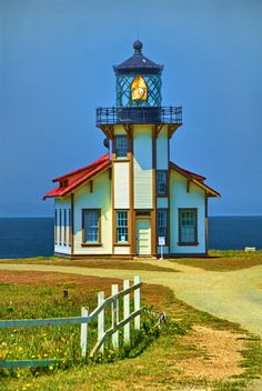 Point Cabrillo Lighthouse, California I Visit this beautiful Lighthouse when I stay in Mendocino. Beautiful World, Beautiful Places, Lighthouse Pictures, Beacon Of Light, Water Tower, Wyoming, Puerto Rico, Coastal, Scenery