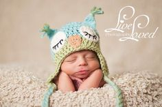love this sweet sleepy owl hat!
