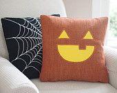 Jax the Jack o Lantern Pumpkin Pillow Cover Halloween Decor 18 x 18