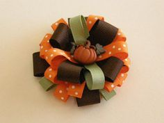 Fall Loopy Layered Boutique Bow by sweetbeebowtique on Etsy, $5.35