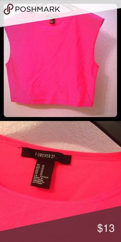 F21 Neon pink top prc firm last call Gorg silk like feel, no flaws Forever 21 Tops
