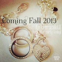 Bracelets! Coming November 2013!!! Like it? Create a fun locket! Love it? Ask me how to host and earn tons of free stuff! Want it all? Ask me how to join my team;-) http://www.LetYourLifeShine.origamiowl.com *Like my page for special offers and free products! www.facebook.com/LetYourLifeShine