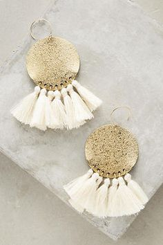 Anthropologie Tamboril Tassel Earrings