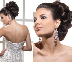 Maravilloso peinado de novia elegante