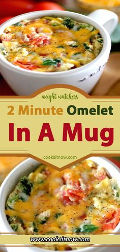2 Minute Omelet In A Mug Weight Watchers Smart Points Friendly – Famous Last Words Petit Déjeuner Weight Watcher, Plats Weight Watchers, Weight Watchers Smart Points, Weight Watchers Meals, Weight Watchers Casserole, Weight Watchers Vegetarian, Weight Watchers Breakfast, Mug Recipes, Cooking Recipes