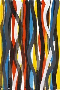 Wavy Vertical Brushstrokes par Sol LeWitt