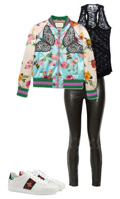 """""""Untitled #129"""" by marioum-s on Polyvore featuring J Brand, IRO and Gucci"""