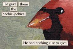 Hilariously Captioned, Disturbing Portraits Of 'Troubled Birds' - DesignTAXI.com