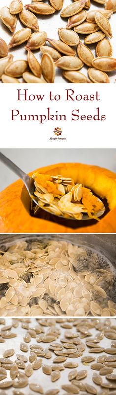 Don't throw away the pumpkin seeds from your pumpkin! Roast them for a delicious healthy Halloween snack #paleo #vegan EASY! on SimplyRecipes.com Pumpkin Recipes, Fall Recipes, Holiday Recipes, Snack Recipes, Cooking Recipes, Best Pumpkin Seed Recipe, Summer Recipes, Keto Recipes, Healthy Halloween Snacks