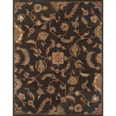 Continental Rug Company Serene Handmade Charcoal Area Rug Rug Size: Round 4'