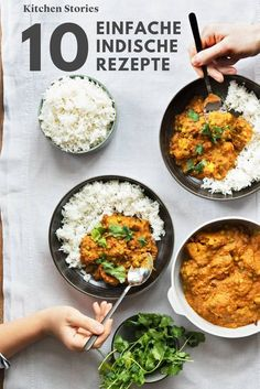 From Chicken Tikka Masala to Naan: 10 Indian recipes for at home - Essen und trinken - Dinner Recipes Chicken Tikka Masala, Poulet Tikka Masala, Pollo Tikka, Garam Masala, Easy Indian Recipes, Easy Healthy Recipes, Vegetarian Recipes, Easy Meals, Work Meals