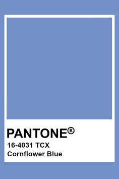 This color is blue in hue, medium in value, and somewhat high in chroma. This creates a lighter feeling blue. Pantone Swatches, Color Swatches, Pantone Tcx, Pantone Colour Palettes, Pantone Color, Blue Colour Palette, Colour Schemes, Color Combinations, Colour Board