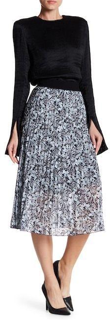 Joe Fresh Sunburst Pleated Lace Skirt