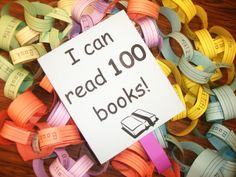 "around Christmas, challenge students to read 100 books by the end of the year. record title and author of each book on a paper ""chain"" link and return the complete chain for a photo op and to be gushed over for completing such a feat :o)"