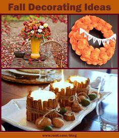 Fall Decorating Ideas - Rent.com Blog  #Fall #decor #decorating #apartment #orange #brown