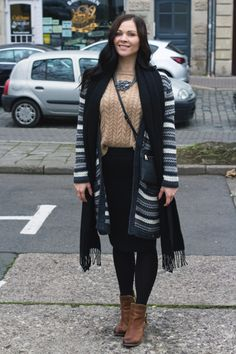 Kleidermädchen - Cosy Outfit Style sweater Cardigan - Gerry Weber, Bag - Mango , skirt - H&M, Shoes - Dressforless