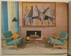 1960 Mid-Century MODERN FRENCH TAPESTRIES Stunning Interior Design LE CORBUSIER | eBay
