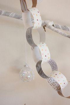 Guirnalda navideña con buenos deseos #DIY #Navidad #decoración