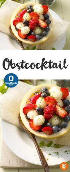 Leckerer Obstcocktail | 0 SmartPoints/Portion, Weight Watchers, einfach und schnell fertig in 5 min.