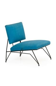 Anonymous; Enameled Metal Lounge Chair, 1950s.