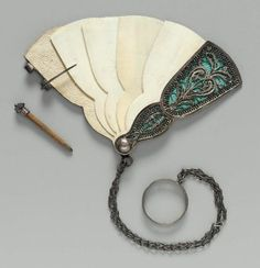 """""""Fan, early 19thC. MFA. Do you write your dancing partners on the leaves, as a dance card?"""""""