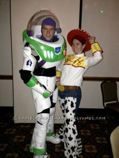 This year we decided to make Buzz Lightyear and Jessie the Cowgirl costumes. We started early in September. We had a ton of fun in these costumes. Peo...