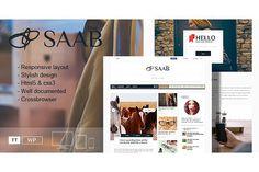 SAAB – Magazine/Blog WordPress Theme. WordPress Blog Themes. $35.00