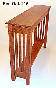 Console Hall Sofa Table Quarter Sawn Oak Arts Crafts Mission Inspired Custom Size 26 Color Choice Made in USA