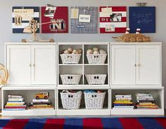 Pottery Barn Kids Low Cameron Wall Storage