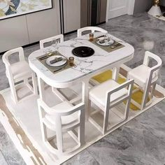 Unique Dining Tables To Make The Space Spectacular - Engineering Discoveries Space Saving Dining Table, Dinning Table Design, Unique Dining Tables, Wooden Dining Tables, Space Saving Furniture, Dining Table Chairs, Modern Kitchen Design, Interior Design Kitchen, Kitchen Decor